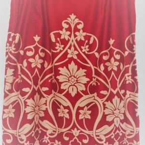 Ann Taylor Loft Red Skirt